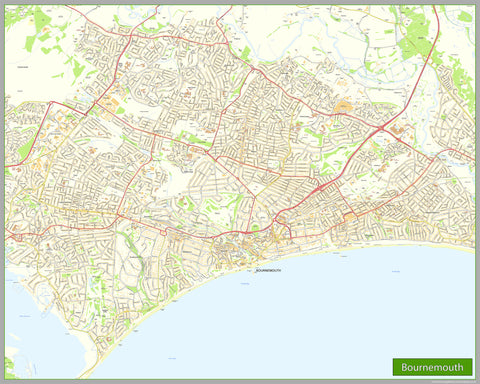 Bournemouth Street Map