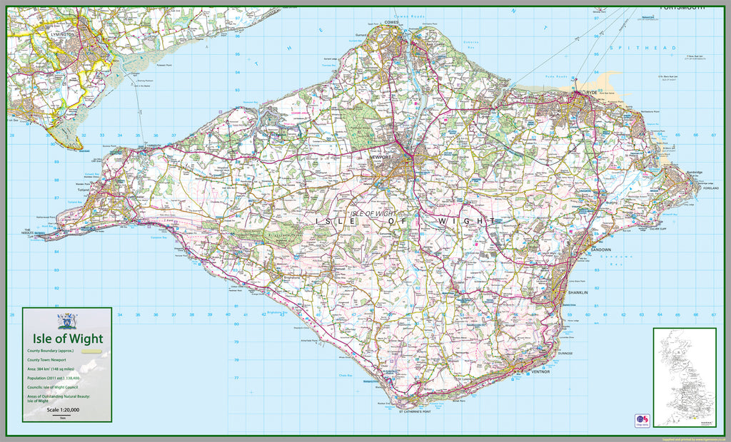 Isle Of Wight Map Isle Of Wight County Map | I Love Maps Isle Of Wight Map