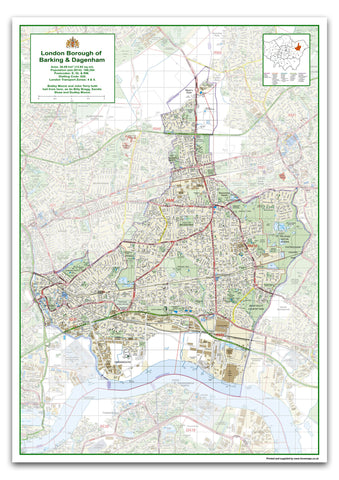 Barking & Dagenham London Borough Map