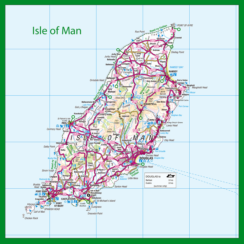 Isle of Man Map Placemat I Love Maps