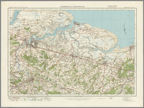 Chatham & Maidstone - Ordnance Survey of England and Wales 1920 Series