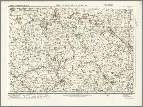 Bury St Edmunds & Sudbury - Ordnance Survey of England and Wales 1920 Series