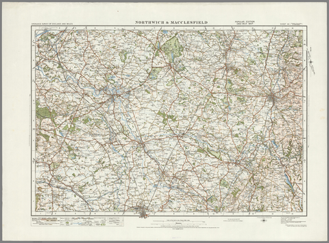Northwich & Macclesfield - Ordnance Survey of England and Wales 1920 Series