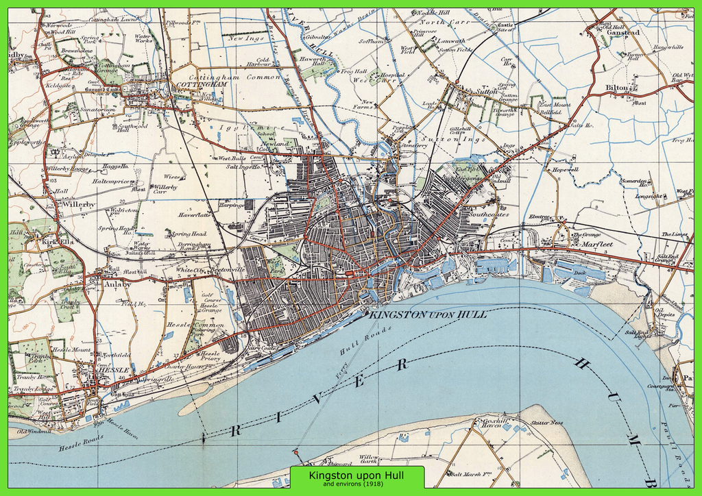 Kingston upon Hull and Environs Ordnance Survey Map 1920 I Love Maps