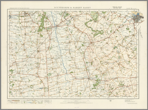 Scunthorpe & Market Rasen - Ordnance Survey of England and Wales 1920 Series