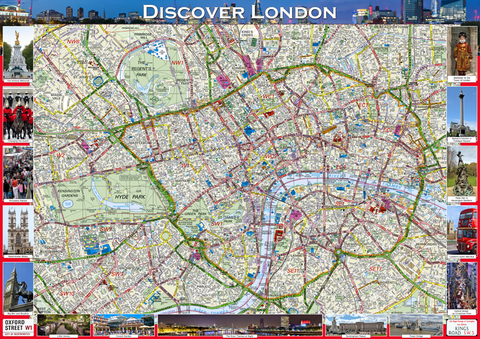 Discover London Illustrated Map
