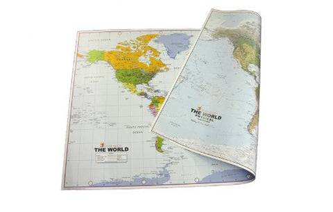 Large Paper World Reversible Map