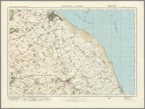 Grimsby & Louth - Ordnance Survey of England and Wales 1920 Series