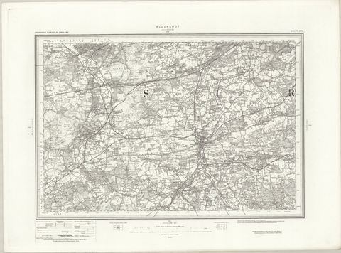 Aldershot (Windsor) 1890 OS Map