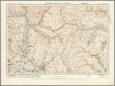 Kirkby Lonsdale & Hawes - Ordnance Survey of England and Wales 1920 Series