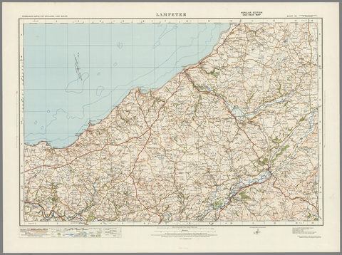 Lampeter - Ordnance Survey of England and Wales 1920 Series