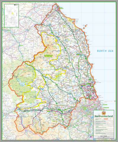 Northumberland County Map
