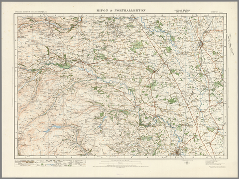 Ripon & Northallerton - Ordnance Survey of England and Wales 1920 Series