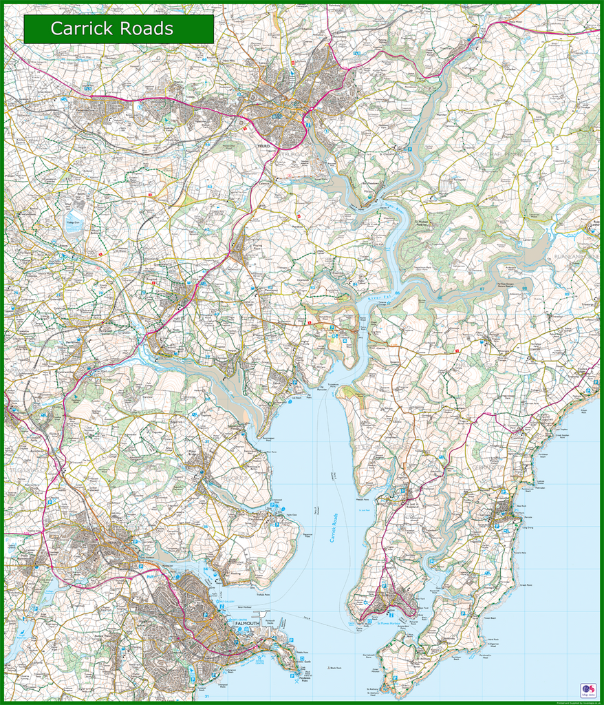 Carrick Roads Coastal Area Map I Love Maps