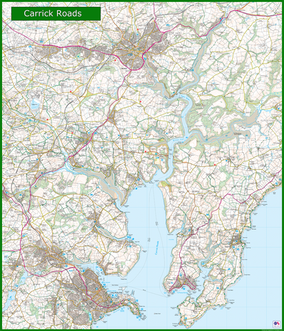 Carrick Roads Coastal Area Map