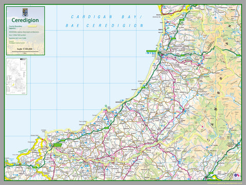 Ceredigion County Map