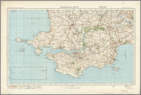 Pembroke & Tenby - Ordnance Survey of England and Wales 1920 Series