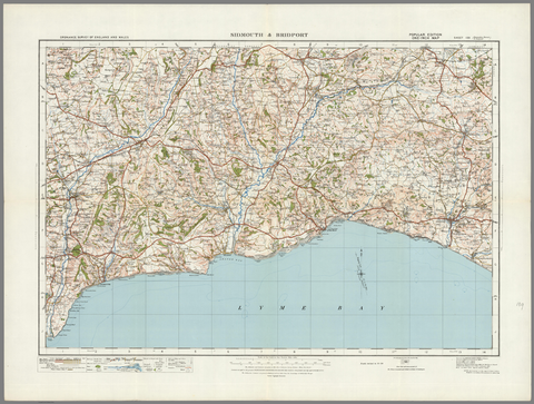 Sidmouth & Birdport - Ordnance Survey of England and Wales 1920 Series
