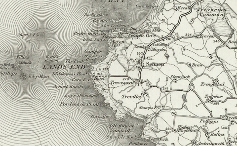 Land's End OS Map