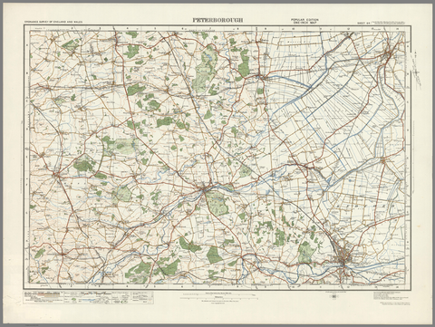 Peterborough - Ordnance Survey of England and Wales 1920 Series