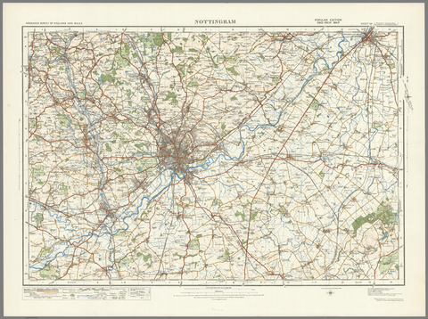 Nottingham - Ordnance Survey of England and Wales 1920 Series