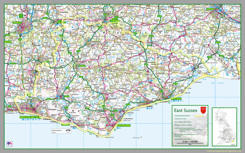 East Sussex County Map