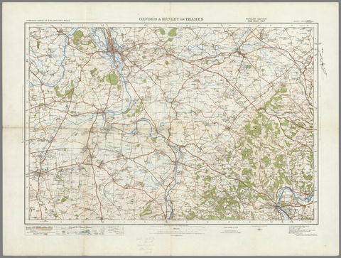 Oxford & Henley on Thames - Ordnance Survey of England and Wales 1920 Series