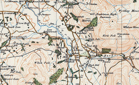 Keswick 1920 Ordnance Survey Map