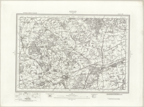 Andover (Hungerford) 1890 OS Map