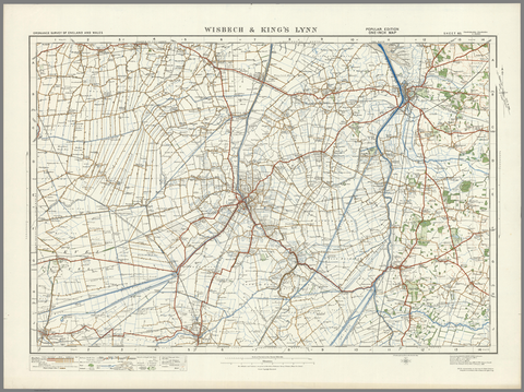 Wisbech & King's Lynn - Ordnance Survey of England and Wales 1920 Series