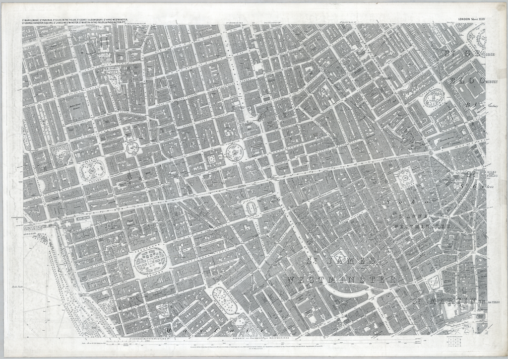 1890 London Oxford Street Ordnance Survey Map I Love Maps