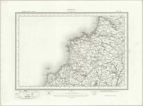 Newquay (Trevose Head) OS Map