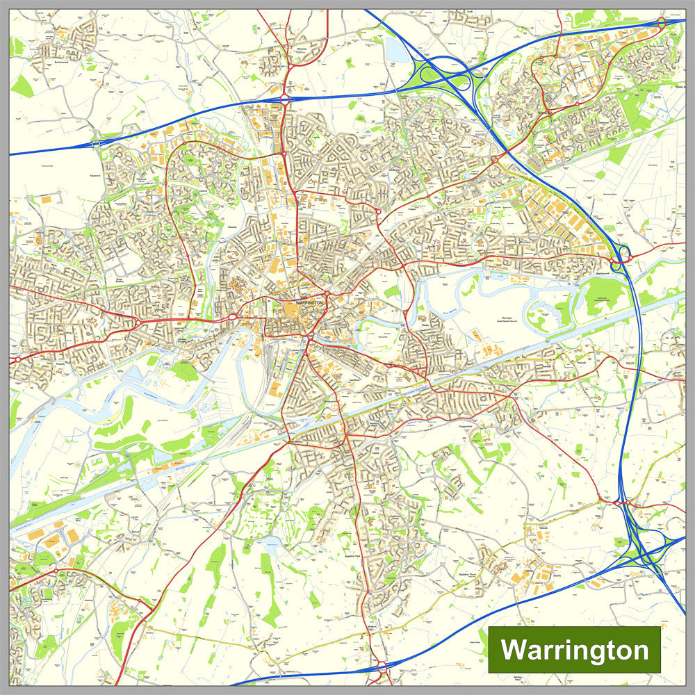 Warrington Street Map | I Love Maps