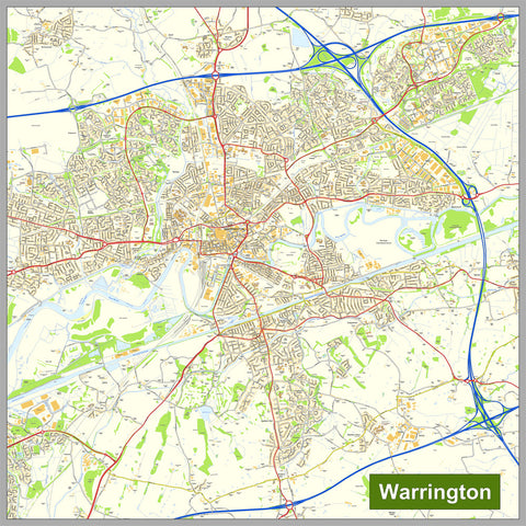 Warrington Street Map
