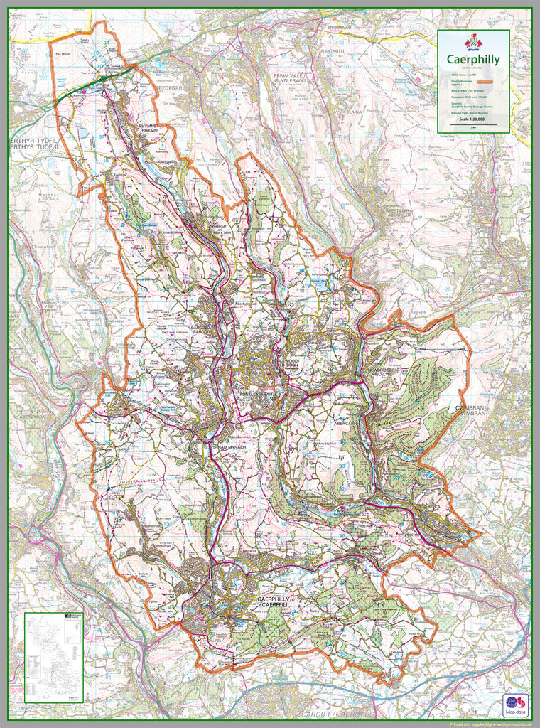 Picture of: Caerphilly County Map I Love Maps