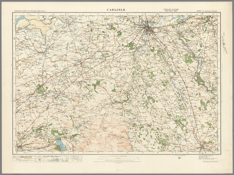 Carlisle - Ordnance Survey of England and Wales 1920 Series