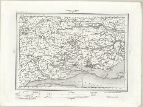 Shoeburyness (Chelmsford) OS Map