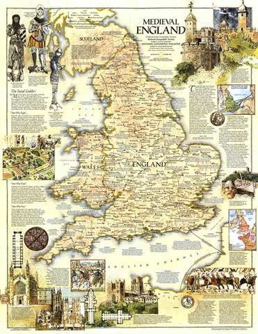 Map of Medieval Britain