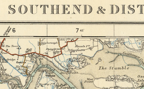 Southend and Discrict - Ordnance Survey of England and Wales 1920 Series