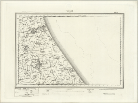 Hornsea (Bridlington) OS Map