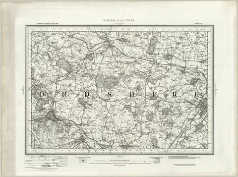 Burton upon Trent (Ashbourne) OS Map