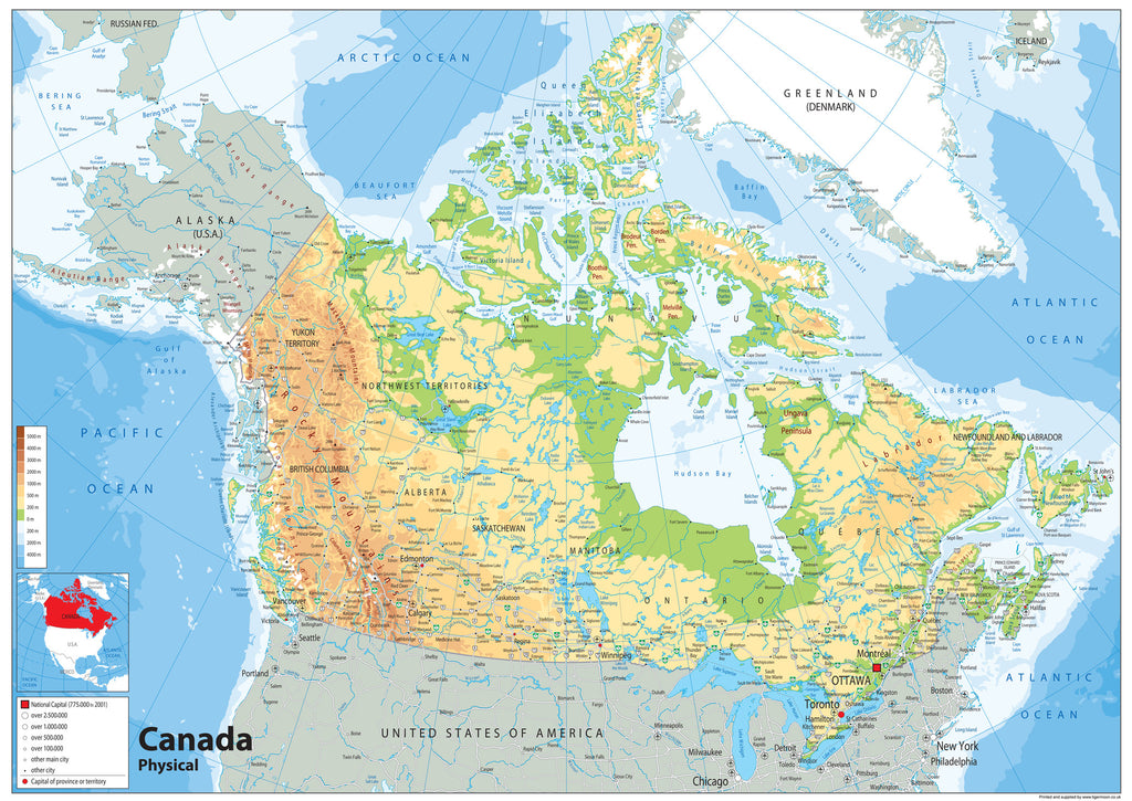Canada Physical Map I Love Maps - Physical maps of canada