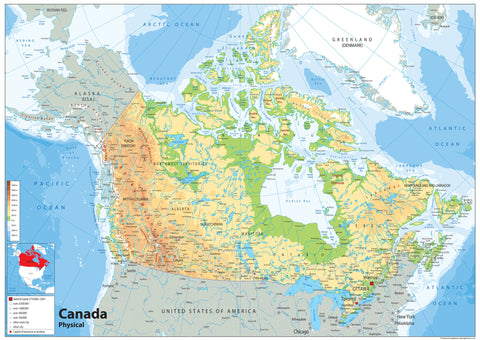 Canada Physical Map I Love Maps - Canada physical map