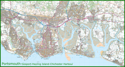 Portsmouth Coastal Area Map