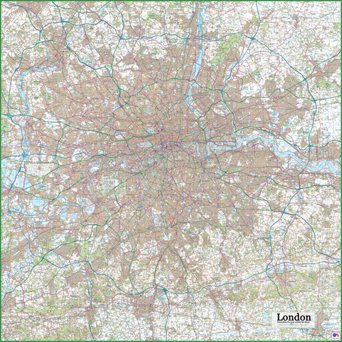 London Within the M25 Map