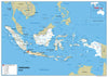 Indonesia Wall Map