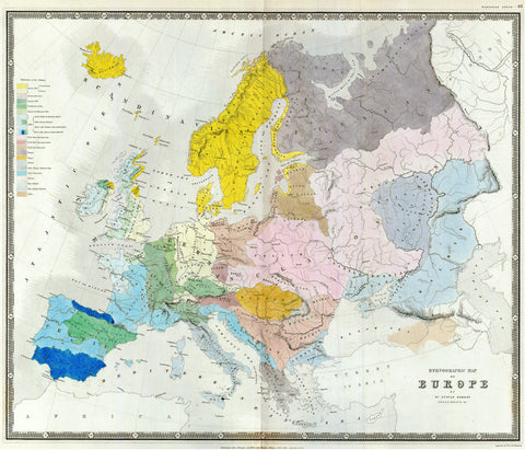 Dr. Gustaf Kombst Ethnographic Map of Europe