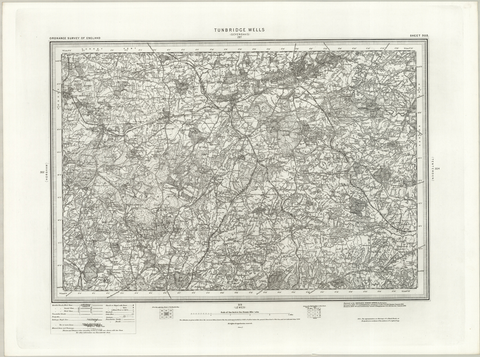 Tunbridge Wells (Sevenoaks) OS Map