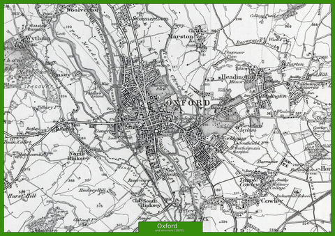 Oxford and Environs Ordnance Survey Map 1870
