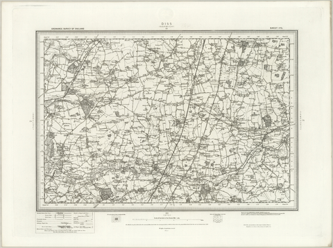 Diss (Norwich) OS Map